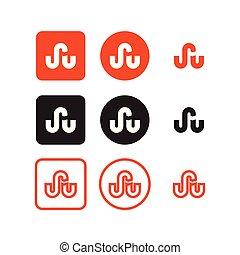 sociale, stumbleupon, media, icone