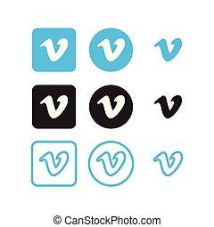 sociale, vimeo, medier, iconerne