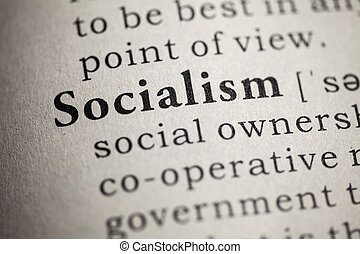 Fake Dictionary, Dictionary definition of the word socialism.