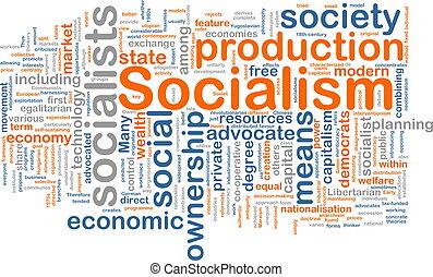 socialism, woord, wolk