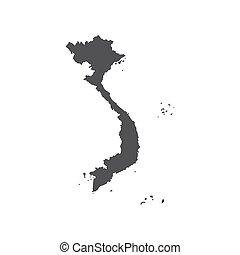 Socialist Republic of Vietnam map silhouette