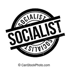 Socialist rubber stamp. Grunge design with dust scratches....