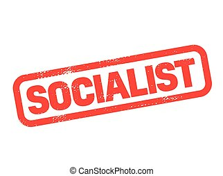 socialist stamp on white background. Sign, label sticker