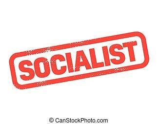 socialist stamp on white background. Sign, label sticker