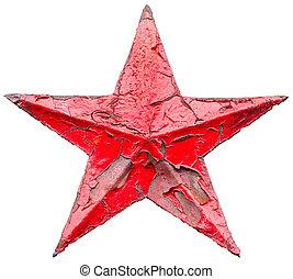 socialist, stjärna, järn, röd