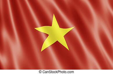 socialista, vietnam, república, bandera