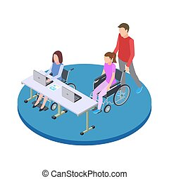 Socialization and education of people with disabilities...