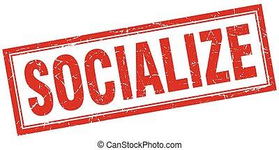 socialize square stamp