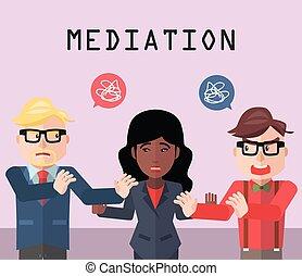 sociedad, conflicto, mediador