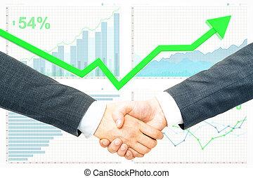 sociedade, e, crescimento financeiro, conceito