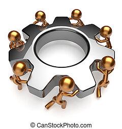 sociedade, equipe, negócio, processo, trabalho equipe,...