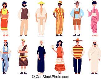 society., 国籍, 人々。, 現代, 共同体, イラスト, 群集, multicultural, グループ, ベクトル, 多様, 一緒に。, 人, multiethnic, 別