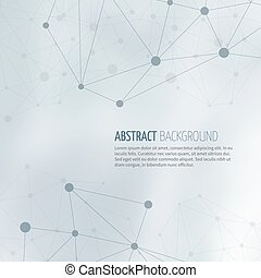Society network structure abstract vector background