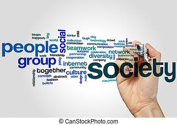 Society word cloud