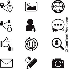 Sociial network icons Set
