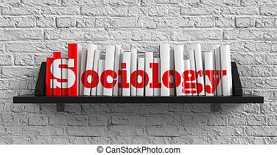 Sociology. Education Concept. - Sociology - Red Inscription...
