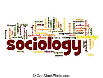 sociology, mot, nuage