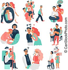Sociopathy Icons Set