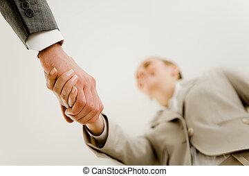 socios, apretón de manos
