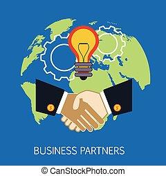 socios, concepto, arte, empresa / negocio