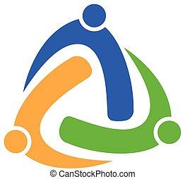 socios, concepto, empresa / negocio, unión, ensayo, logotipo