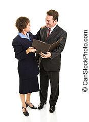socios de negocio, cuerpo lleno
