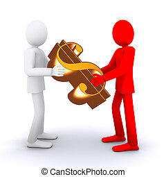 socios, toma, financ?, dinero, gente