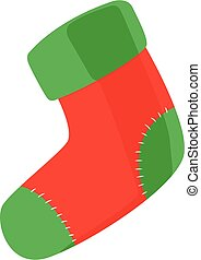 sock christmas vector illustration isolated