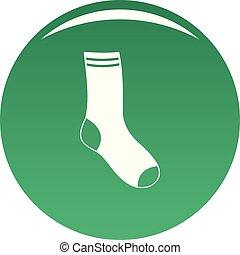 Sock icon vector green