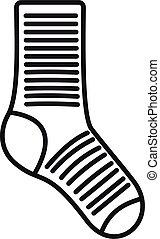 Sock item icon outline vector. Wool pair
