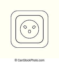 socket., プラグ, ac, ソケット, 力, h, イスラエル, 国, icon., タイプ