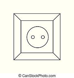 socket., プラグ, c, ソケット, 力, 国, ac, 組合, icon., タイプ, ロシア, ヨーロッパ