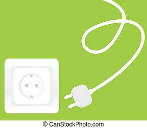 Socket and plug vector background - Socket and plug vector...