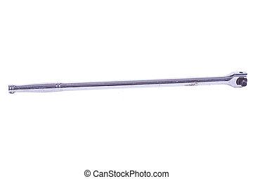 A long handled crome socket breaker bar.