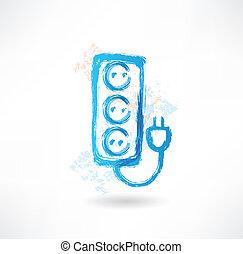 socket grunge icon.