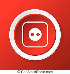 Socket icon on red