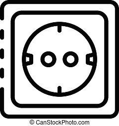 Socket icon, outline style