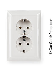 socket isolated on a white background