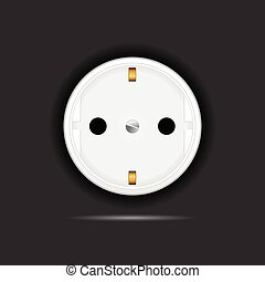 socket on black background vector illustration