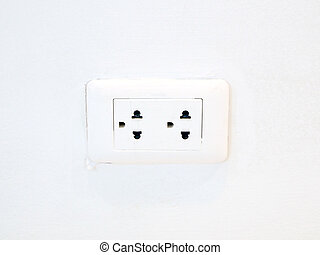 Socket on the wall white
