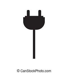 Socket plug icon vector illustration. Free royalty images.
