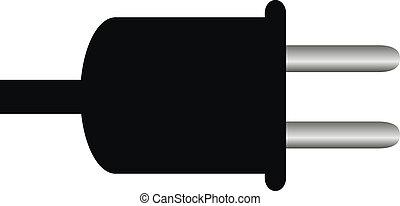 Socket plug isolated on white background