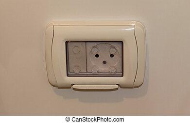 socket), sortie, (wall, électrique