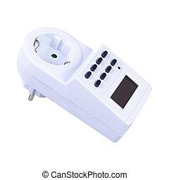 socket timer on white background
