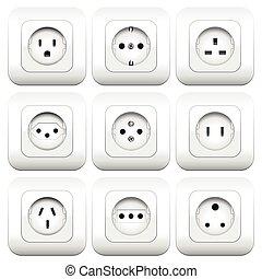 Sockets Varieties Different Types - Sockets - different...