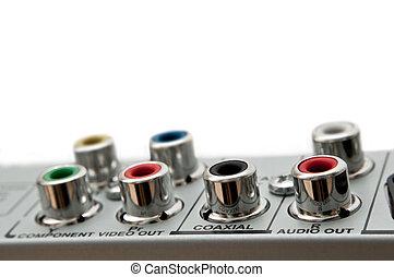 sockets., visuell, audio