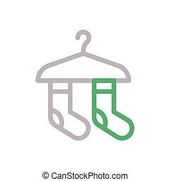 socks flat color icon