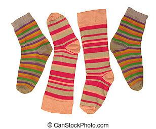 Socks for children isolated on white backgrounds