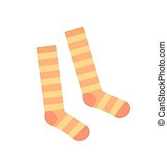 Socks for Girls Baby Clothes Vector Illustration