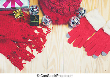 Socks, gloves and hats for Christmas